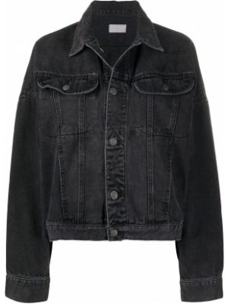 Джинсовая куртка черная оверсайз Boyish Denim