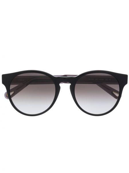 Прямые муслиновые малиновые солнцезащитные очки круглые Chloé Eyewear