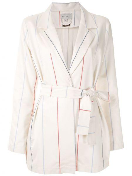 Белое пальто классическое с поясом Alcaçuz