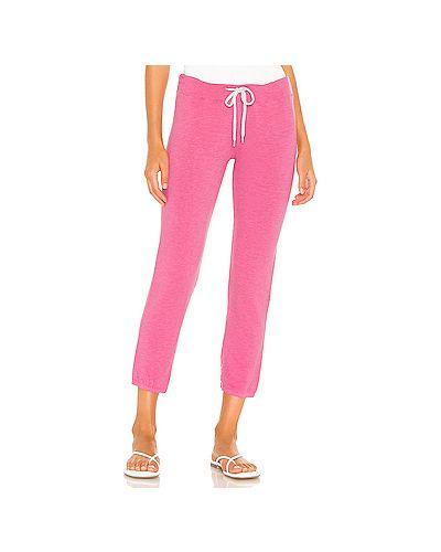 Облегающие махровые розовые спортивные брюки винтажные Monrow