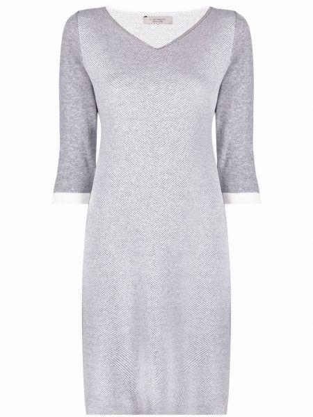 Шерстяное платье миди - серое D.exterior