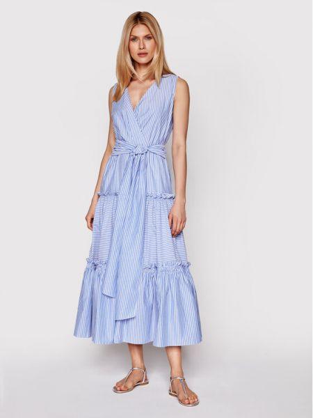 Niebieska sukienka na lato Luisa Spagnoli