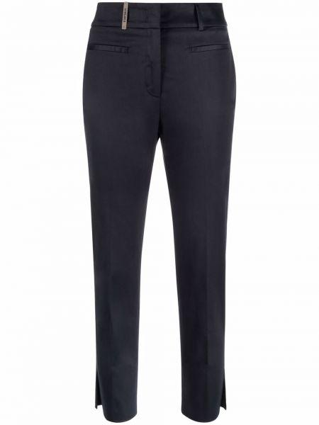 Синие деловые брюки Peserico