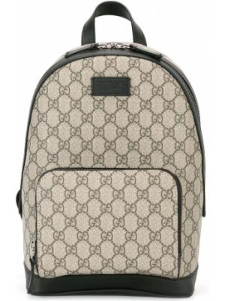Plecak skórzany czarny Gucci