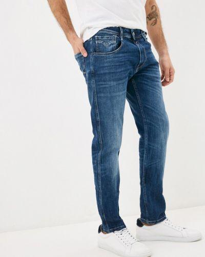 Синие прямые джинсы Replay