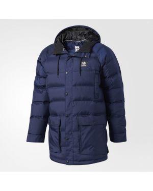 Синяя облегченная зимняя куртка Adidas