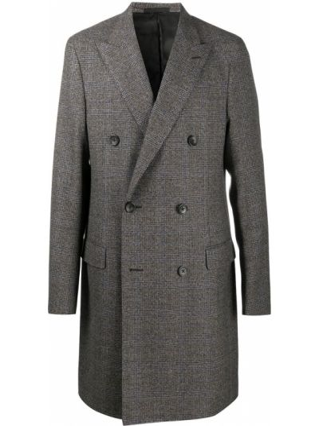 Beżowy płaszcz wełniany z długimi rękawami Lanvin