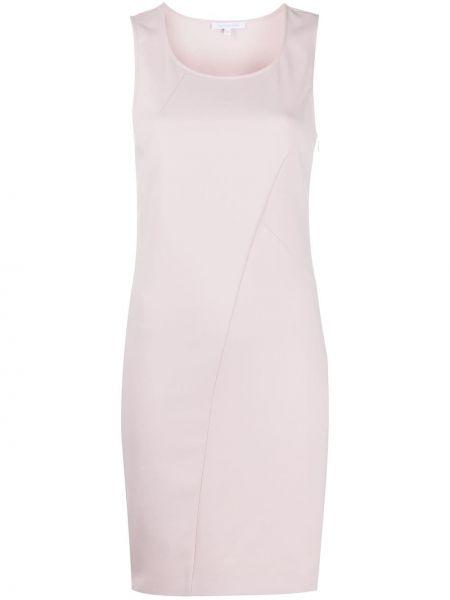 Розовое приталенное облегающее платье без рукавов с вырезом Patrizia Pepe