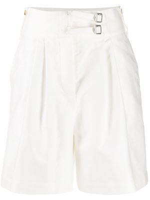 Белые короткие шорты с карманами на пуговицах Lanvin