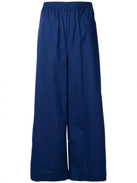 Хлопковые синие свободные брюки с поясом свободного кроя Woolrich