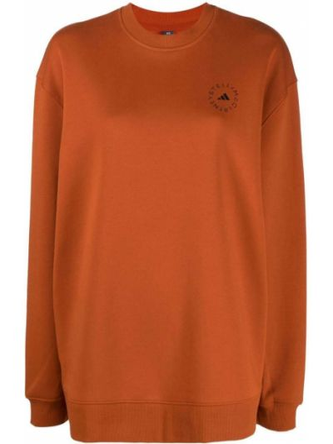 Оранжевая толстовка с логотипом Adidas By Stella Mccartney