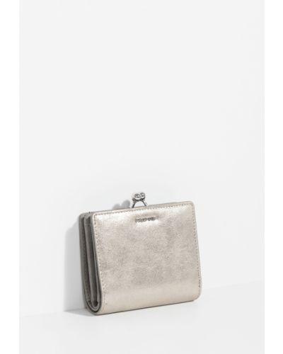 Кожаный кошелек маленький бежевый Parfois