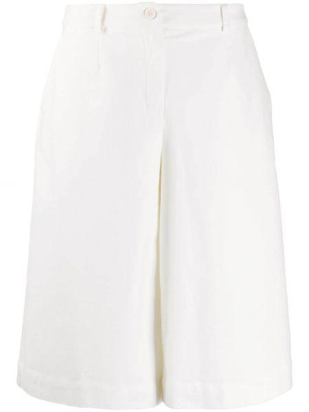Свободные белые кюлоты свободного кроя на молнии Stefano Mortari