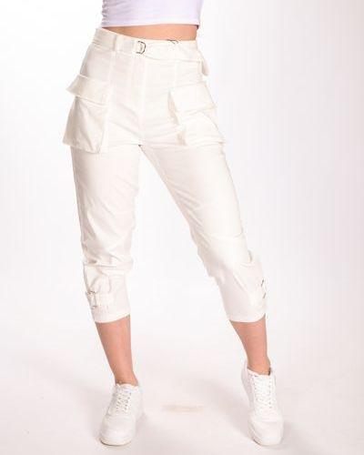 Широкие брюки - белые Dilvin