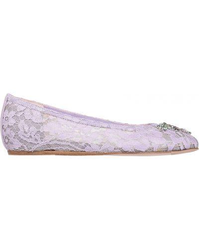 Балетки кожаные на каблуке Le Silla
