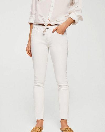 Белые джинсы-скинни Mango