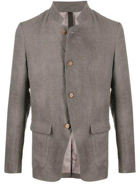 С рукавами темно-серый однобортный пиджак с карманами Poème Bohémien