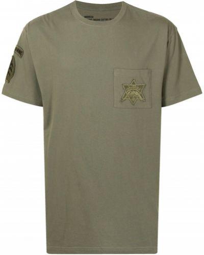 Зеленая хлопковая футболка Maharishi