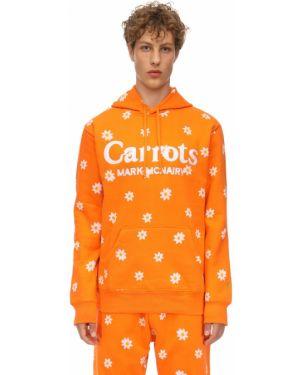 Pomarańczowa bluza z kapturem bawełniana Carrots