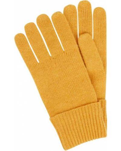 Z kaszmiru rękawiczki - żółte Christian Berg Women