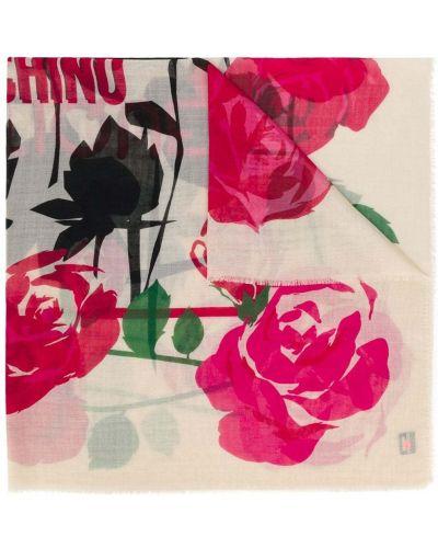 Платок с цветочным принтом Moschino