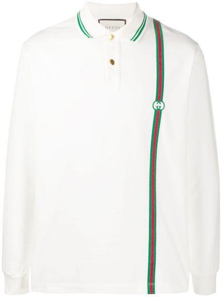 Bawełna biały koszula krótkie z krótkim rękawem krótkie rękawy z kołnierzem Gucci