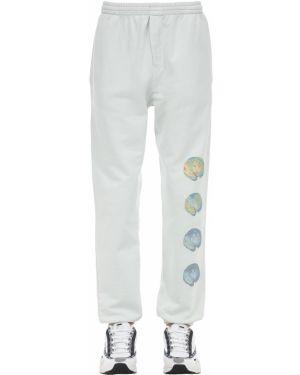 Białe joggery bawełniane Klsh - Kids Love Stain Hands