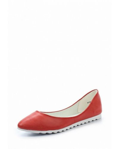 Красные кожаные балетки Betsy