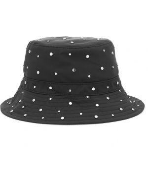 Czarny kapelusz z nylonu Ganni