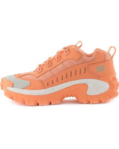 Оранжевые кожаные полуботинки на шнуровке Caterpillar