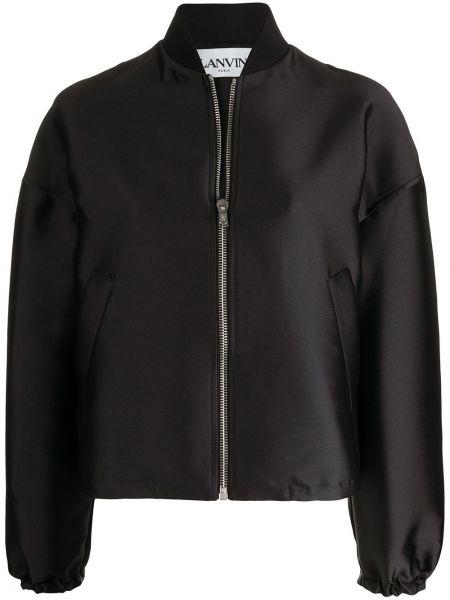Черная куртка оверсайз на молнии Lanvin