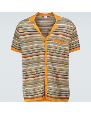 Koszula krótkie z krótkim rękawem w paski z paskami Nanushka