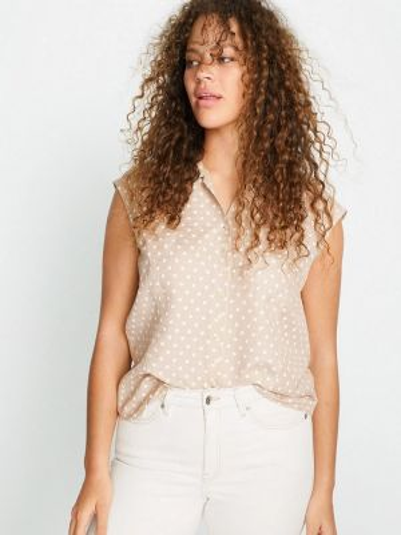 Блузка весенний бежевый Violeta By Mango