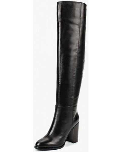 Черные ботфорты кожаные Vitacci