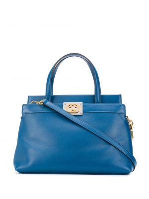 Niebieski z paskiem torba na ramię z prawdziwej skóry Gucci