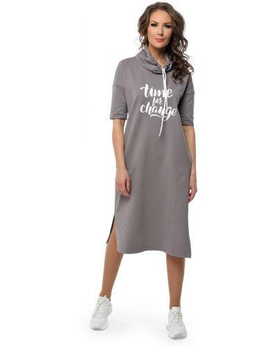 Прямое платье с короткими рукавами с разрезом Dizzyway