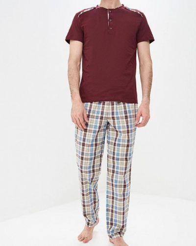 Пижама красный бордовый Peche Monnaie