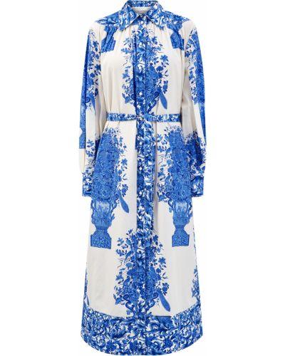 Легкое платье миди - голубое Valentino