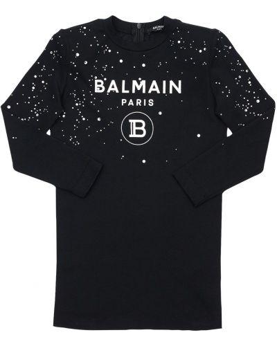 Трикотажное платье - черное Balmain