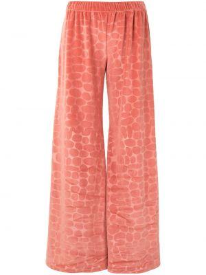 Расклешенные розовые брюки эластичные Alexis