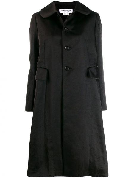 Коралловое длинное пальто с капюшоном на пуговицах Comme Des Garçons Comme Des Garçons
