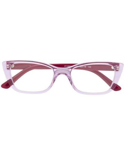 Fioletowy oprawka do okularów plac za pełne Vogue