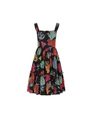 Хлопковое платье - черное Dolce&gabbana