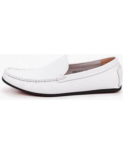 Белые кожаные мокасины Vitacci