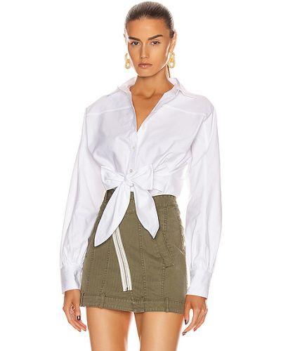 Ватная хлопковая белая оксфордская рубашка Marissa Webb