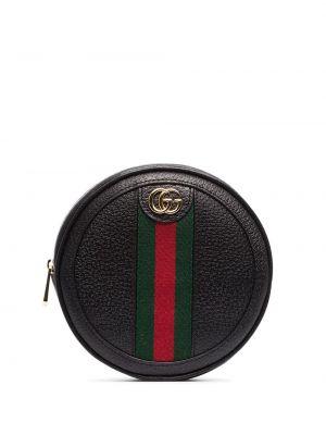 Кожаная черная кожаная сумка Gucci