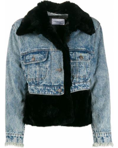Хлопковая джинсовая куртка - черная Forte Dei Marmi Couture