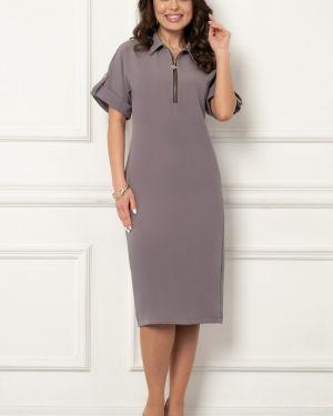 Прямое классическое платье с капюшоном для офиса Bellovera
