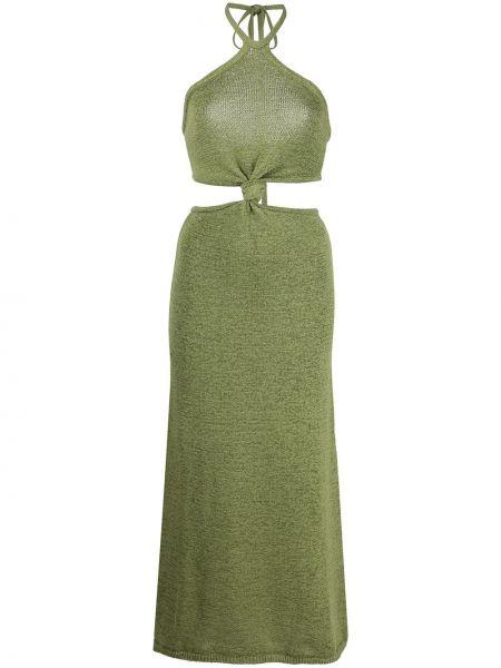 Хлопковое платье миди - зеленое Cult Gaia
