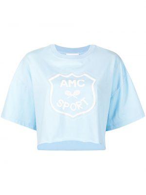 Хлопковая черная футболка с вырезом Alice Mccall
